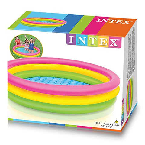 Intex 57422NP - Piscina hinchable 3 aros Sunset 147 x 33 cm