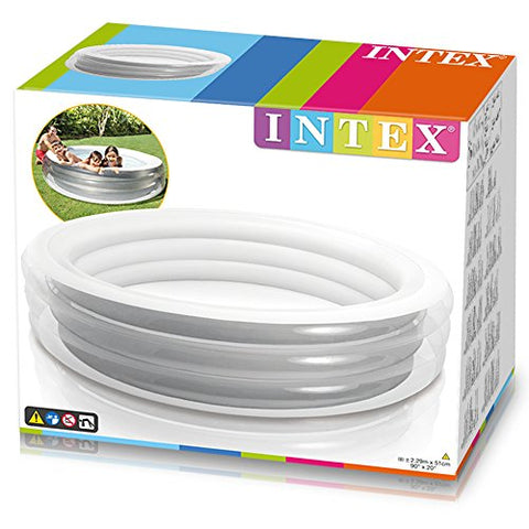 Intex 57192NP - Piscina hinchable transparente 229 x 51 cm, 880 litros