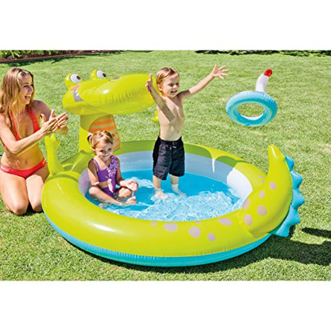 Image of Intex 57431NP - Piscina hinchable caimán 198 x 160 x 91 cm, 170 litros