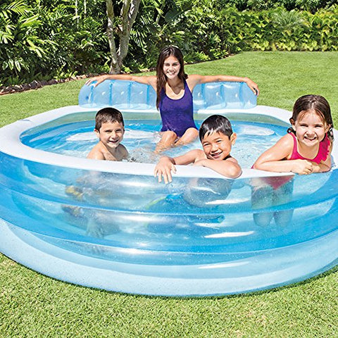 Image of Intex 57190NP - Piscina hinchable con sillón 229 x 218 x 79 cm, 640 litros