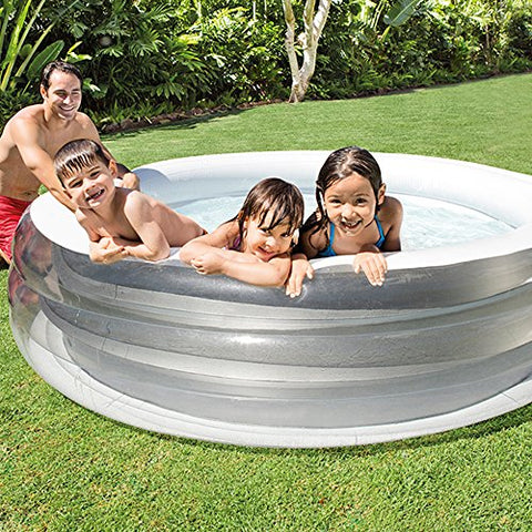 Image of Intex 57192NP - Piscina hinchable transparente 229 x 51 cm, 880 litros