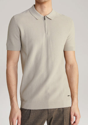 JOOP! Geweven beige polo