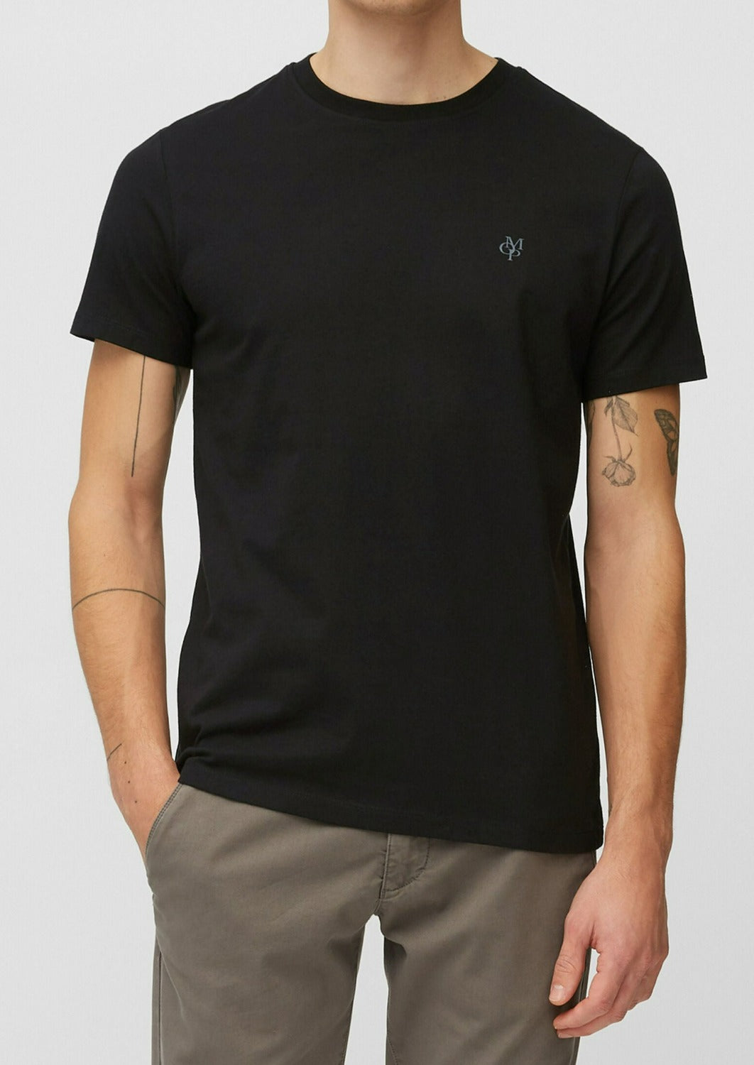 Zwarte Basic T-shirt van Organic Cotton