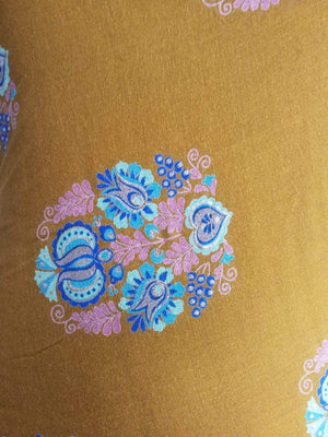 Rayon Oxidised Pattern Printed Fabric with Foil