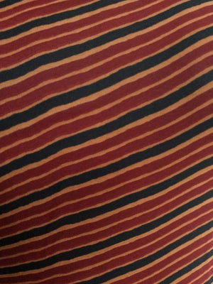 Multicolor Stripe Printed Georgette Fabric - Zooomberg