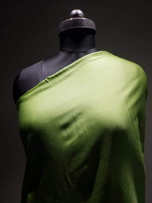 Parrot Green Plain Dyed Linen Satin Fabric