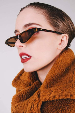 Get Leopard Print Feminine Cat-Eye Sunglasses with RS. 894.00