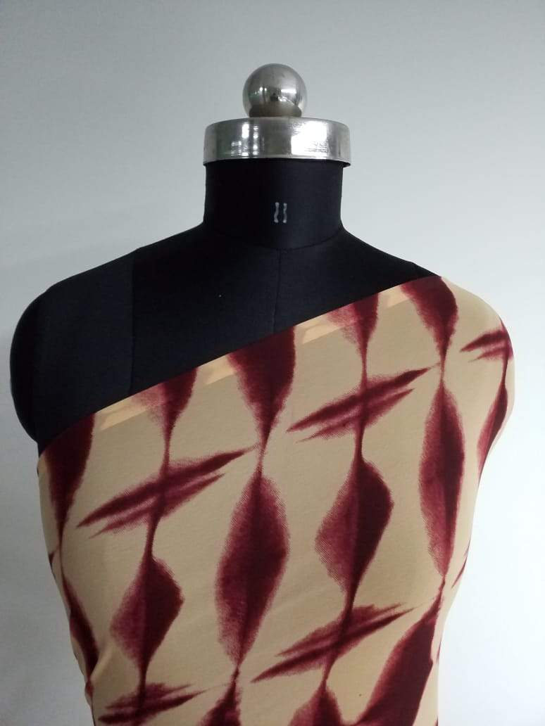 Ikat Printed Georgette Fabric - Zooomberg
