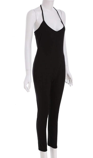 Get Spaghetti Strap Backless Slim Jumpsuit with RS. 989.00