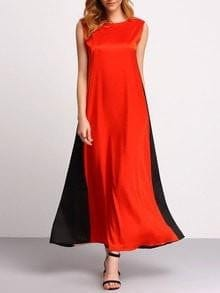 Color Block Sleeveless Maxi Dress - Dresses - Zooomberg - Zoomberg