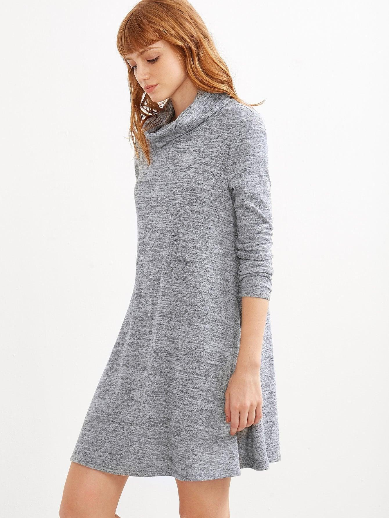 Marled Knit Swing Dress - Dresses - Zooomberg - Zoomberg