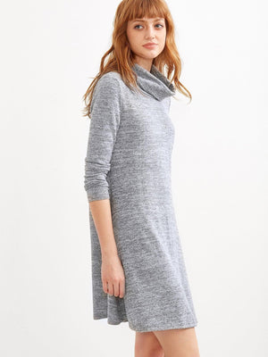 Get Marled Knit Swing Dress with RS. 874.00