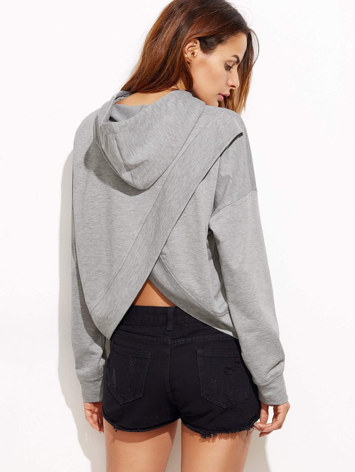 Drop Shoulder Tulip back Slub Hoodie - zooomberg