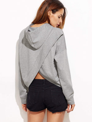 Get Drop Shoulder Tulip back Slub Hoodie with RS. 584.00