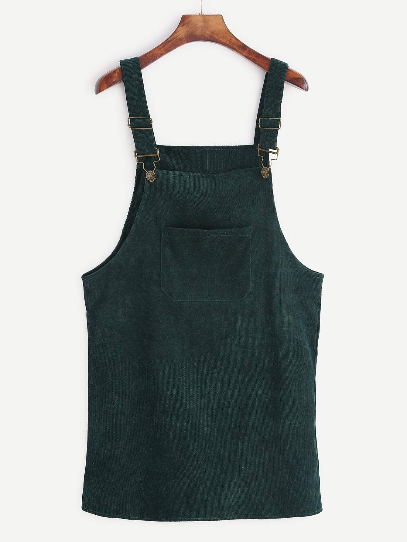 Corduroy Overall Dress With Pocket - zooomberg