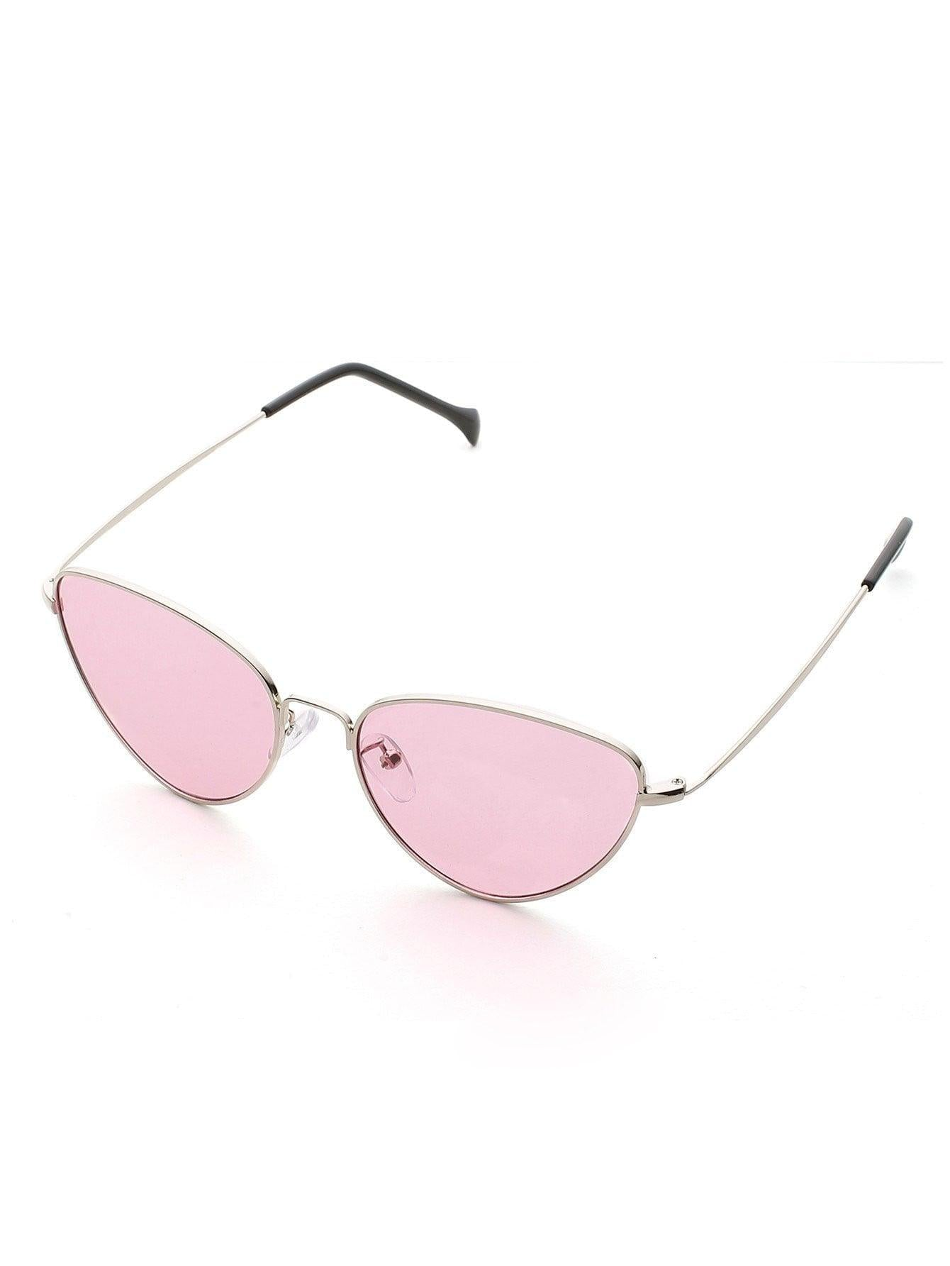 Oval Shaped Flat Lens Sunglasses - Sunglasses - Zooomberg - Zoomberg