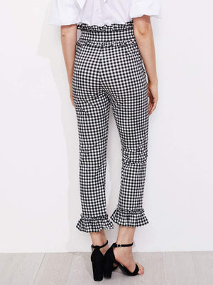 Get Gingham Frill Trim Pants with RS. 899.00