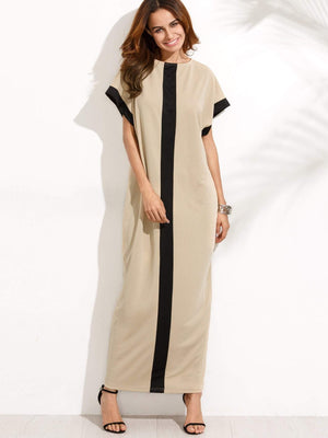 Pocket Full Length Tee Dress - Dresses - Zooomberg - Zoomberg