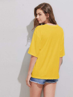 Bow Knot Yellow Top - Tops - Zooomberg - Zoomberg