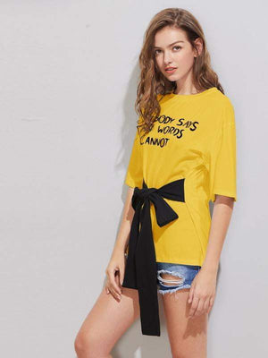 Bow Knot Yellow Top