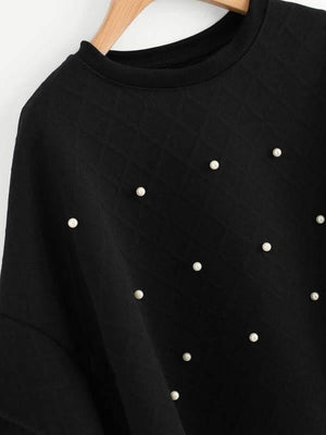 Pearl Beaded Tiered Cuff Cape Coat - Jackets - Zooomberg - Zoomberg