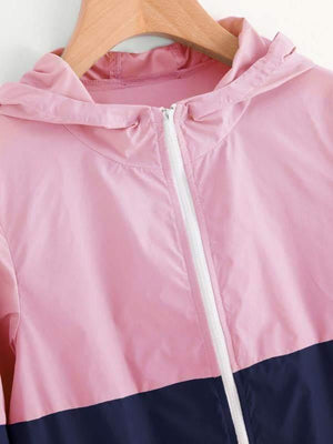 Two Tone Zip Up Hoodie Jacket - Jackets - Zooomberg - Zoomberg