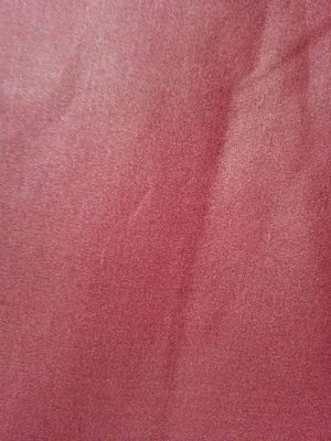 Wine Red Plain Dyed Linen Satin Fabric - Zooomberg
