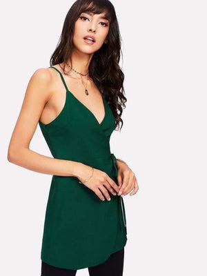 Forest Green Wrap Top - Tops - Zooomberg - Zoomberg