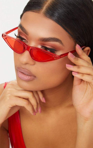 Get Red Feminine Cat-Eye Sunglasses with RS. 894.00