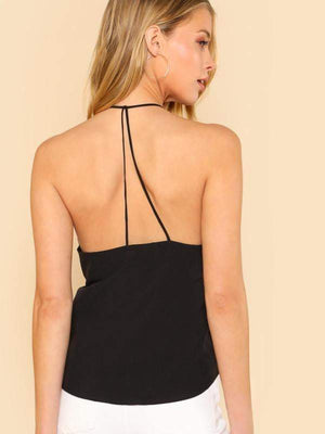 Black Halter Top - Tops - Zooomberg - Zoomberg