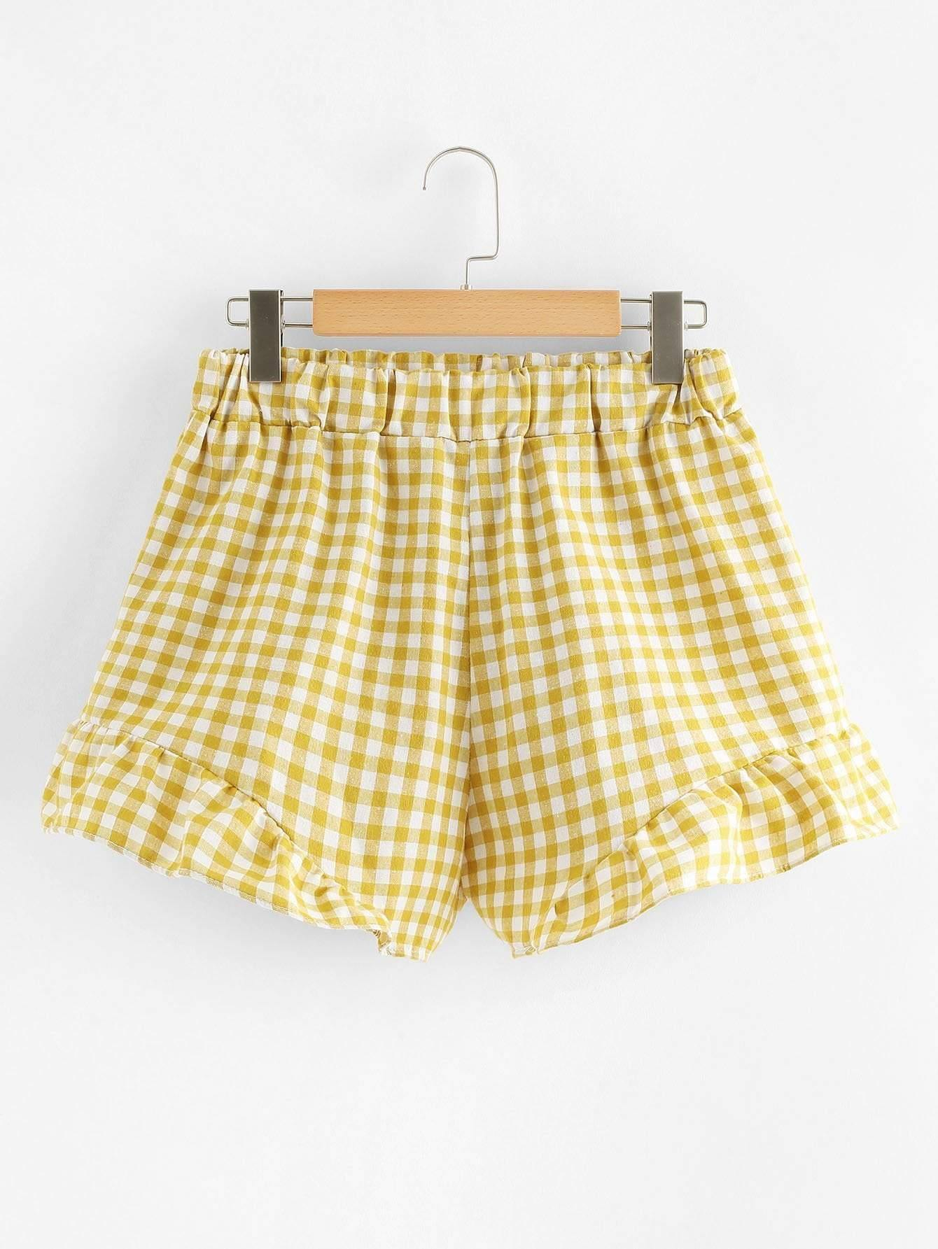 Gingham Knot Back And Shorts Co-Ord