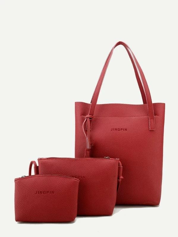 Tassel Detail Tote Bag With Clutch 3pcs - Bag - Zooomberg - Zoomberg