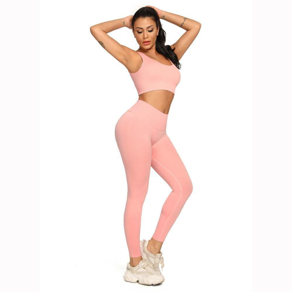 Skinny Knitted Quick-Drying Workout Active Wear Set