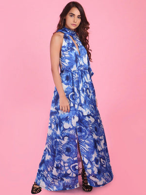 Shift Blue Printed Gown