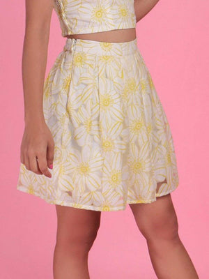 Get Box Pleated Tissue Skirt with RS. 870.00