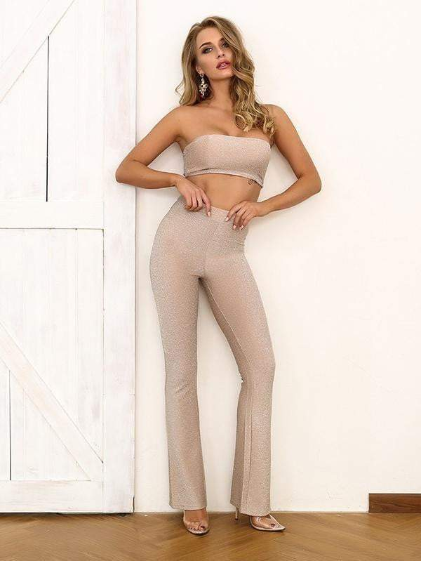 Tube Top And Long Pant