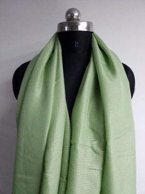 Pistachio Green Plain Dyed Kota Doria Fabric