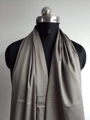 Concrete Grey Plain Dyed Cotton Satin Fabric