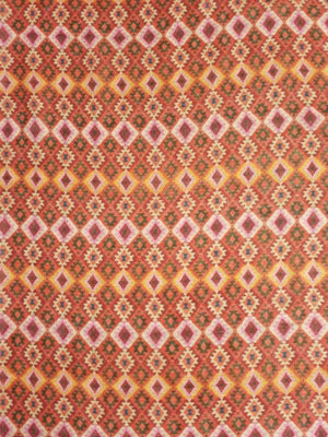 Geometrical Pattern Digital Printed Linen Textured Fabric