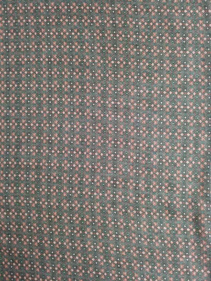 Geometrical Pattern Digital Printed Linen Textured Fabric - Zooomberg