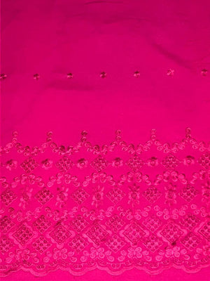 Pink Rayon Palazzo One Side Border Embroidery with all over Buti Embroidery