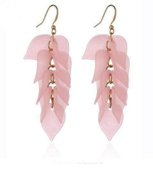 Multilayers Sweet Leaves Resin Long Drop Earring