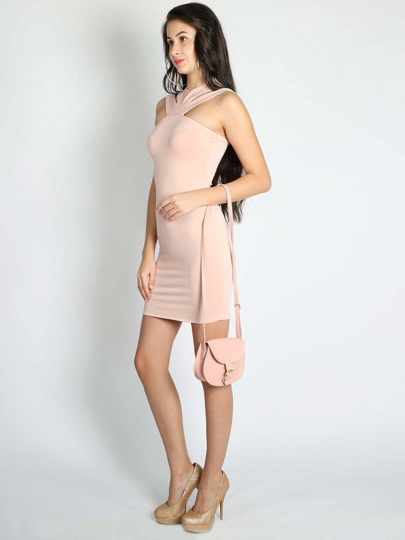 Halter Neck Straps Bodycon Dress - Dresses - Zooomberg - Zoomberg