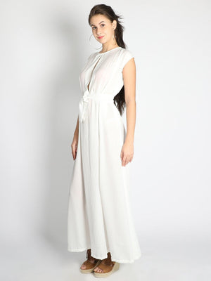 Get White Box Pleated Gown with RS. 1290.00