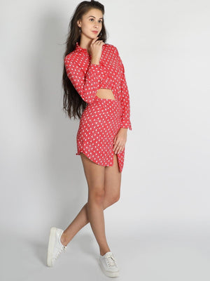 Get Half And Half Shirt Skirt Dress with RS. 1110.00