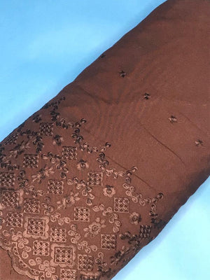 Brown Rayon Palazzo One Side Border Embroidery with all over Buti Embroidery