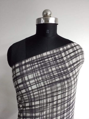 Checkered Printed Georgette Fabric