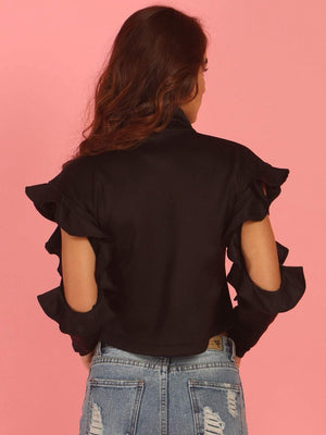 Get Frill Cold Shoulder Top with RS. 870.00