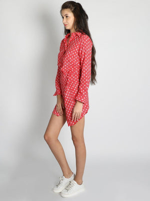 Half And Half Shirt Skirt Dress - Dresses - Zooomberg - Zoomberg