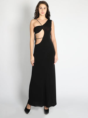 Half Open Cutout Waist Gown - Dresses - Zooomberg - Zoomberg
